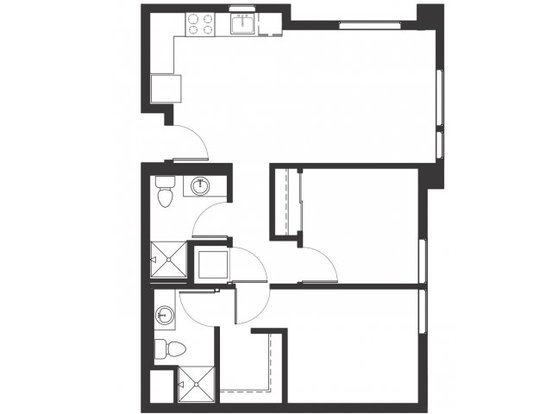 2 Bedrooms 2 Bathrooms Apartment for rent at The Century At North Cook in Portland, OR