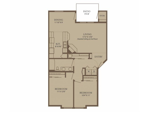 2 Bedrooms 1 Bathroom Apartment for rent at North Glen Villas in Vancouver, WA