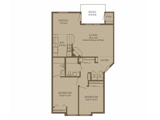 2 Bedrooms 2 Bathrooms Apartment for rent at North Glen Villas in Vancouver, WA