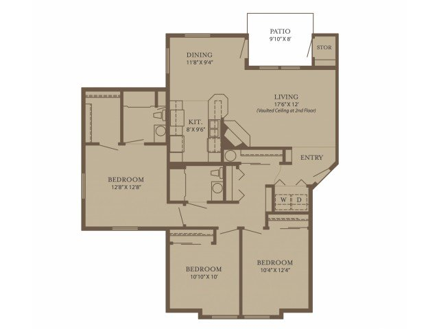 3 Bedrooms 2 Bathrooms Apartment for rent at North Glen Villas in Vancouver, WA