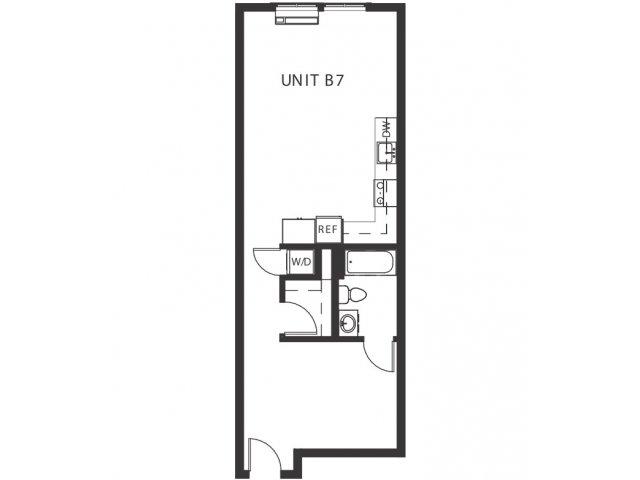 Studio 1 Bathroom Apartment for rent at Hawthorne Twenty-six in Portland, OR