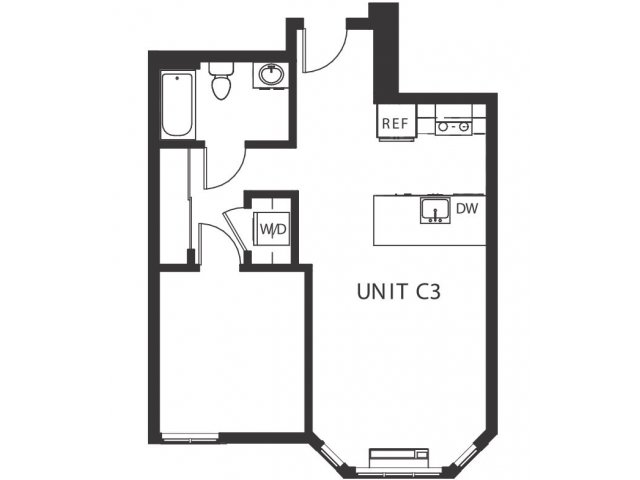 1 Bedroom 1 Bathroom Apartment for rent at Hawthorne Twenty-six in Portland, OR