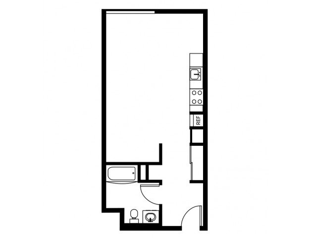Studio 1 Bathroom Apartment for rent at East 12 Lofts in Portland, OR
