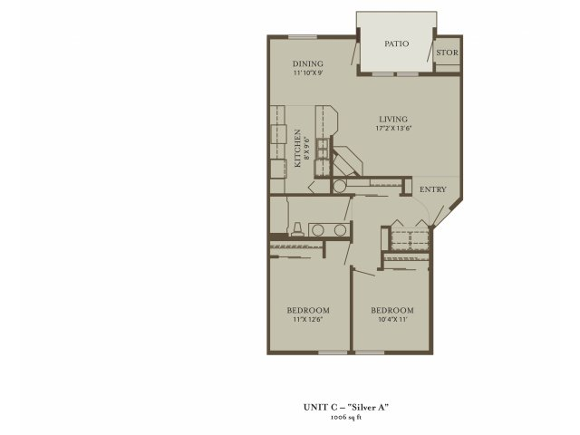 2 Bedrooms 1 Bathroom Apartment for rent at The Grove At 72nd in Vancouver, WA