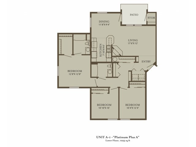 3 Bedrooms 2 Bathrooms Apartment for rent at The Grove At 72nd in Vancouver, WA