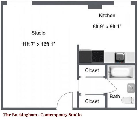 Studio 1 Bathroom Apartment for rent at The Buckingham Apartments in Minneapolis, MN