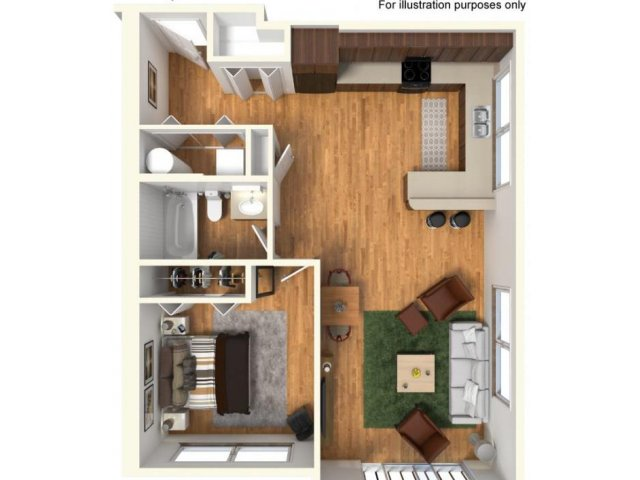 1 Bedroom 1 Bathroom Apartment for rent at Highline At Kendall Yards in Spokane, WA