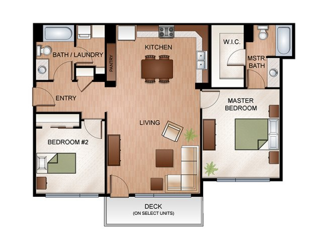 2 Bedrooms 2 Bathrooms Apartment for rent at Highline At Kendall Yards in Spokane, WA