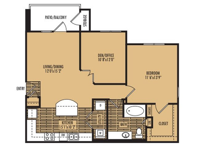 1 Bedroom 1 Bathroom Apartment for rent at Agave At South Congress in Austin, TX