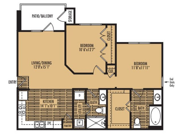 2 Bedrooms 2 Bathrooms Apartment for rent at Agave At South Congress in Austin, TX