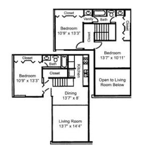 3 Bedrooms 2 Bathrooms Apartment for rent at The Citadel in Dallas, TX