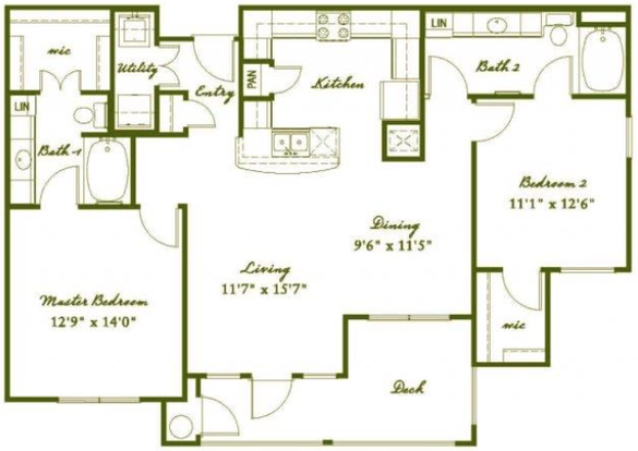 2 Bedrooms 2 Bathrooms Apartment for rent at Austin City Lights in Austin, TX