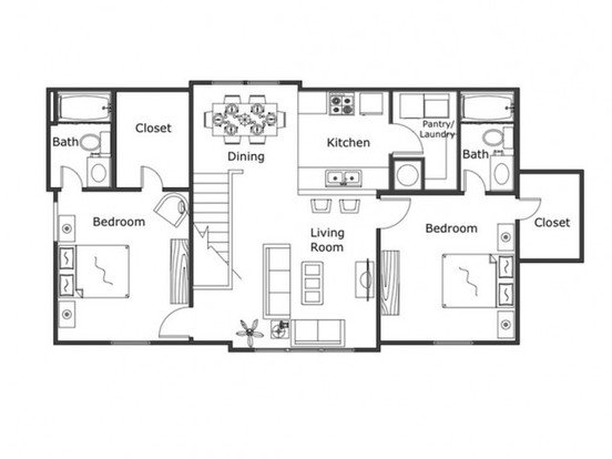 2 Bedrooms 2 Bathrooms Apartment for rent at Legacy Trail in Norman, OK