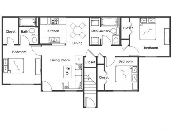 3 Bedrooms 2 Bathrooms Apartment for rent at Legacy Trail in Norman, OK