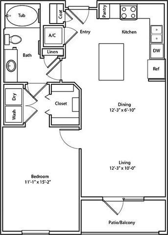 1 Bedroom 1 Bathroom Apartment for rent at Arium City Lake in Houston, TX