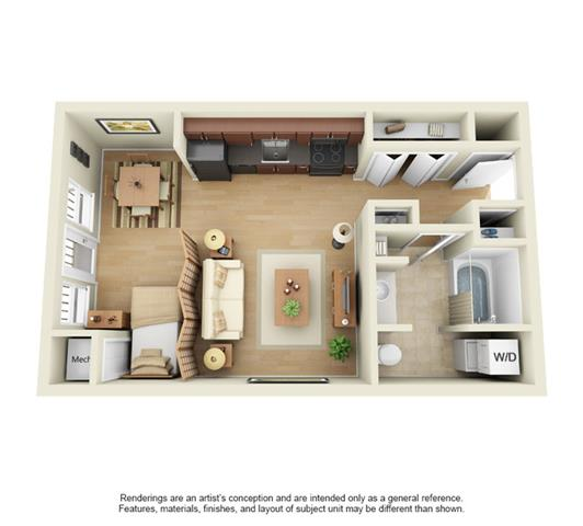 Studio 1 Bathroom Apartment for rent at Uptown Lake Apartments in Minneapolis, MN