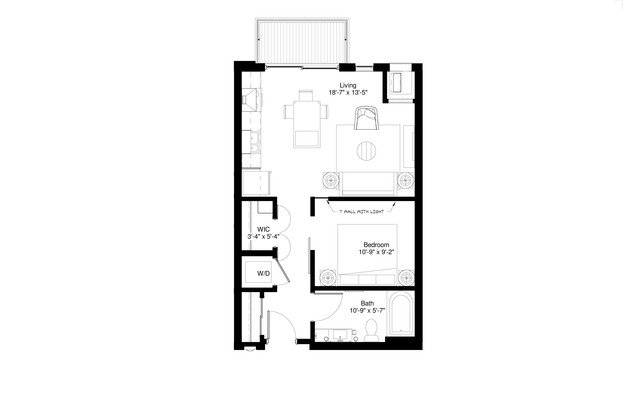 Studio 1 Bathroom Apartment for rent at Central Park West in St Louis Park, MN