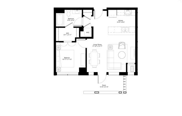 1 Bedroom 1 Bathroom Apartment for rent at Central Park West in St Louis Park, MN