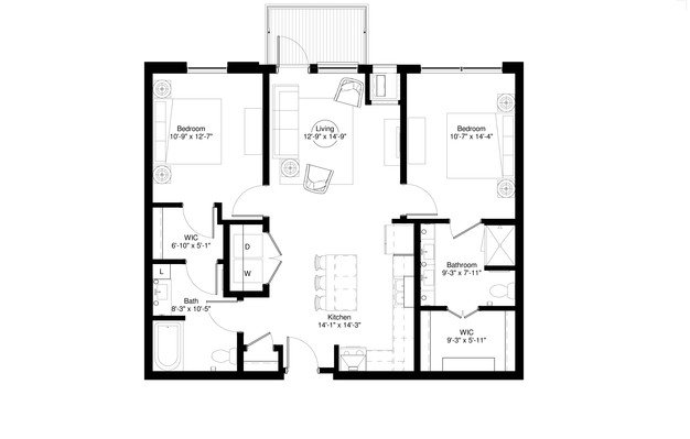 2 Bedrooms 2 Bathrooms Apartment for rent at Central Park West in St Louis Park, MN