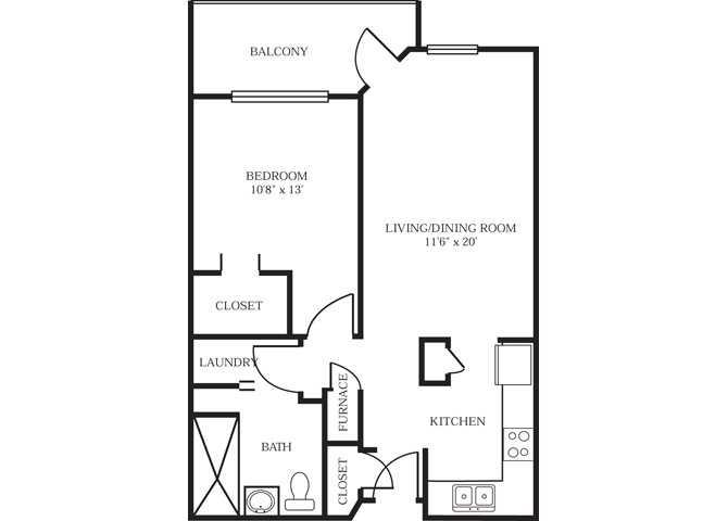 1 Bedroom 1 Bathroom Apartment for rent at Park At City West in Eden Prairie, MN