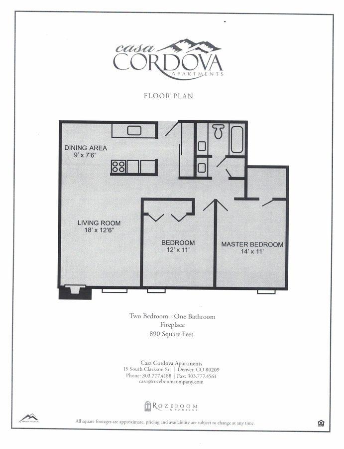 2 Bedrooms 1 Bathroom Apartment for rent at Casa Cordova Apartments in Denver, CO