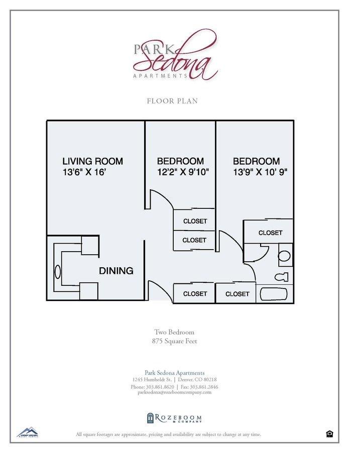 2 Bedrooms 1 Bathroom Apartment for rent at 1245 Humboldt St in Denver, CO