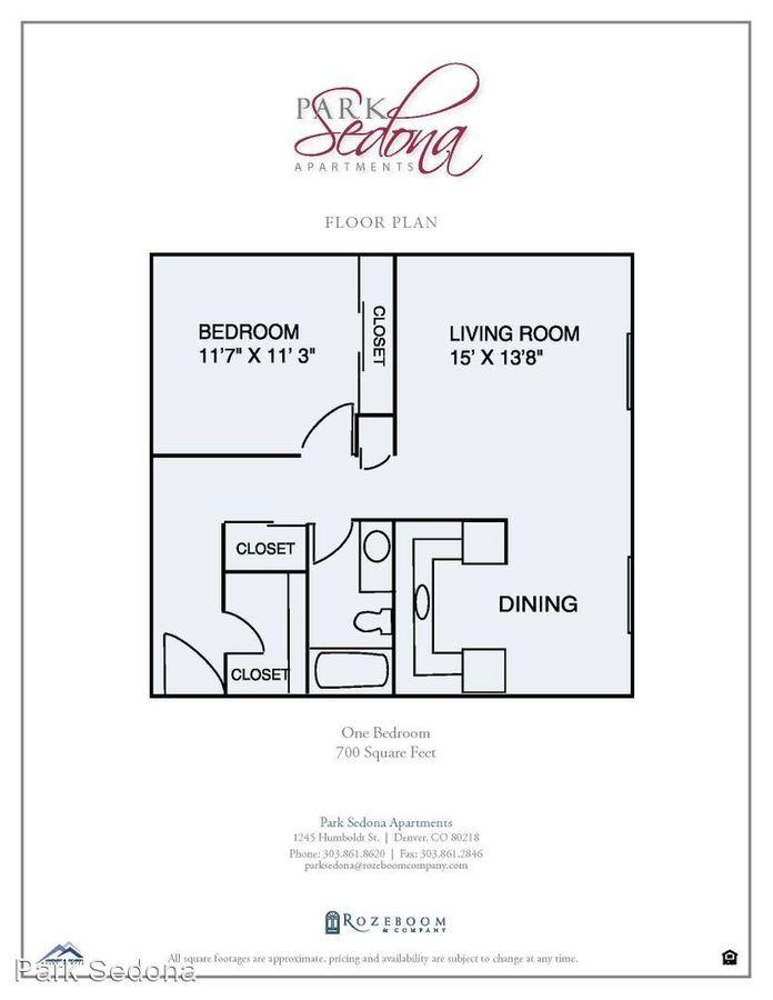 1 Bedroom 1 Bathroom Apartment for rent at 1245 Humboldt St in Denver, CO