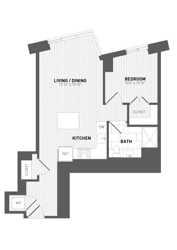 1 Bedroom 1 Bathroom Apartment for rent at 7seventy7 in Milwaukee, WI