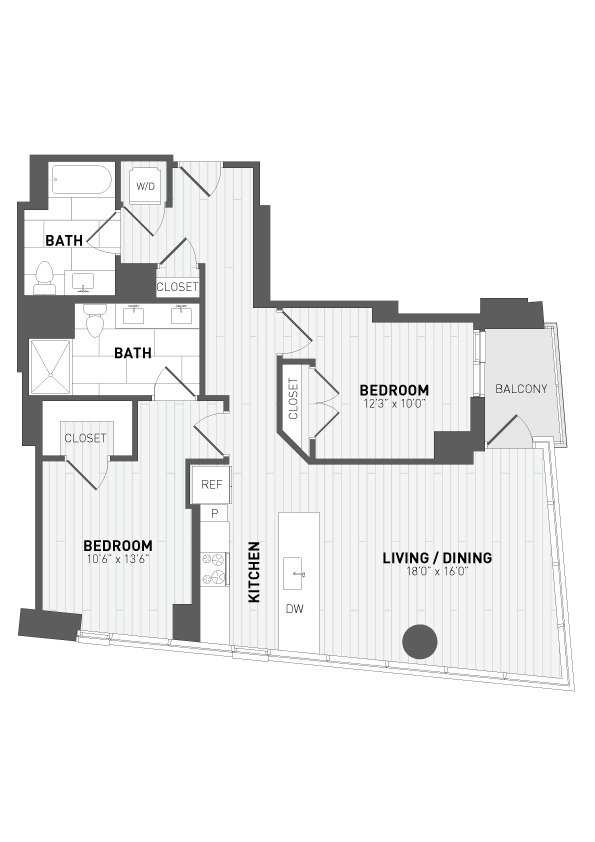 2 Bedrooms 2 Bathrooms Apartment for rent at 7seventy7 in Milwaukee, WI