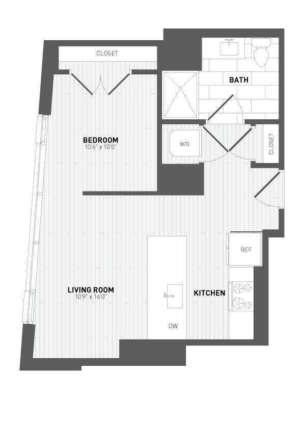 Studio 1 Bathroom Apartment for rent at 7seventy7 in Milwaukee, WI