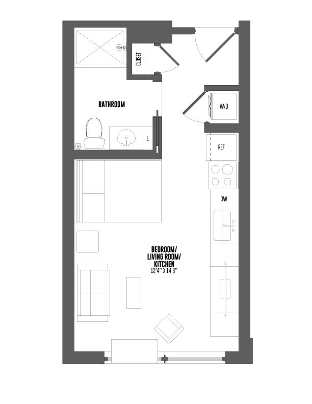 Studio 1 Bathroom Apartment for rent at The Hamilton in Philadelphia, PA