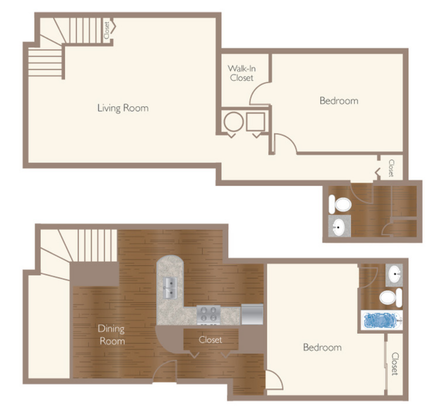 2 Bedrooms 2 Bathrooms Apartment for rent at Circle City Apartments in Indianapolis, IN