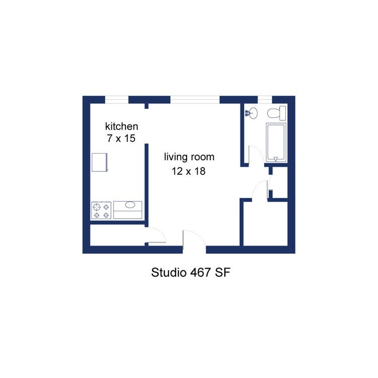 Studio 1 Bathroom Apartment for rent at Indy Flats in Indianapolis, IN
