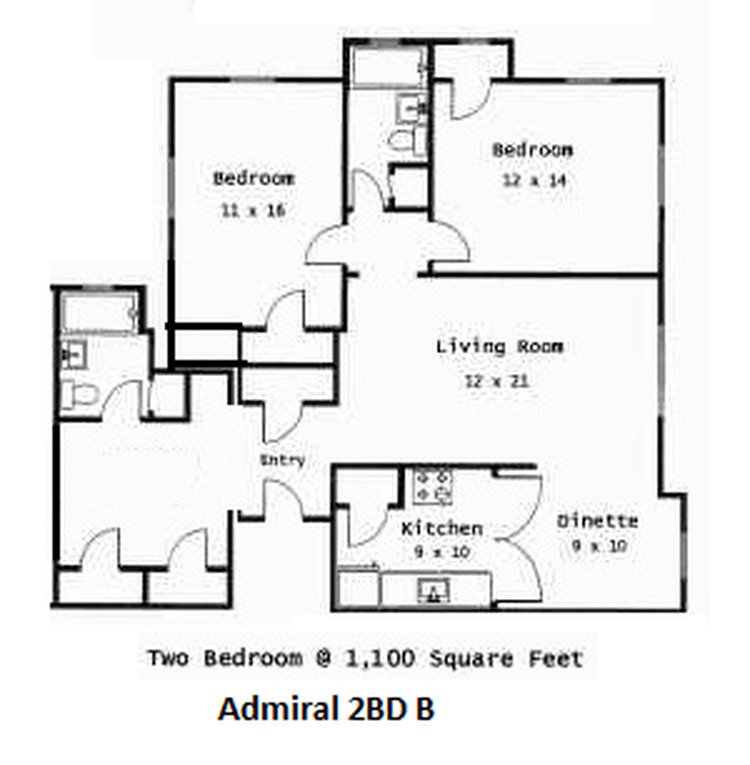 2 Bedrooms 1 Bathroom Apartment for rent at Indy Flats in Indianapolis, IN