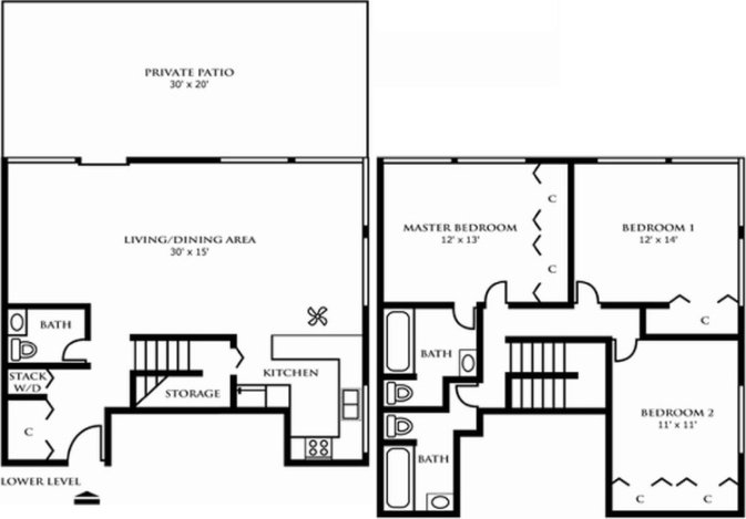 3 Bedrooms 3 Bathrooms Apartment for rent at Riley Towers Apartments in Indianapolis, IN