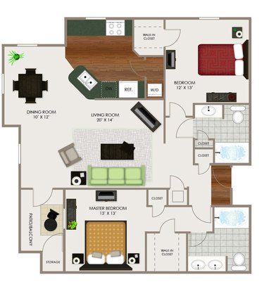 2 Bedrooms 2 Bathrooms Apartment for rent at River Ridge Apartments in Indianapolis, IN