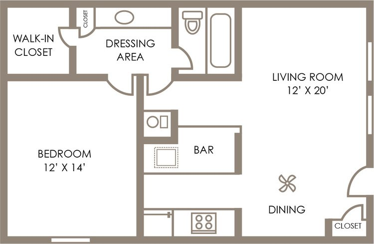 1 Bedroom 1 Bathroom Apartment for rent at Shore Acres Apartments in Indianapolis, IN