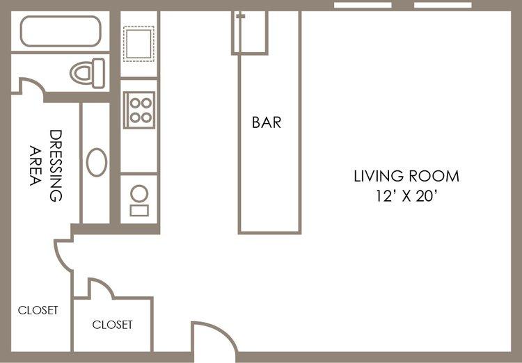 Studio 1 Bathroom Apartment for rent at Shore Acres Apartments in Indianapolis, IN