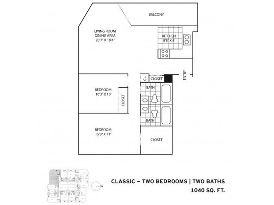2 Bedrooms 2 Bathrooms Apartment for rent at One East Delaware in Chicago, IL