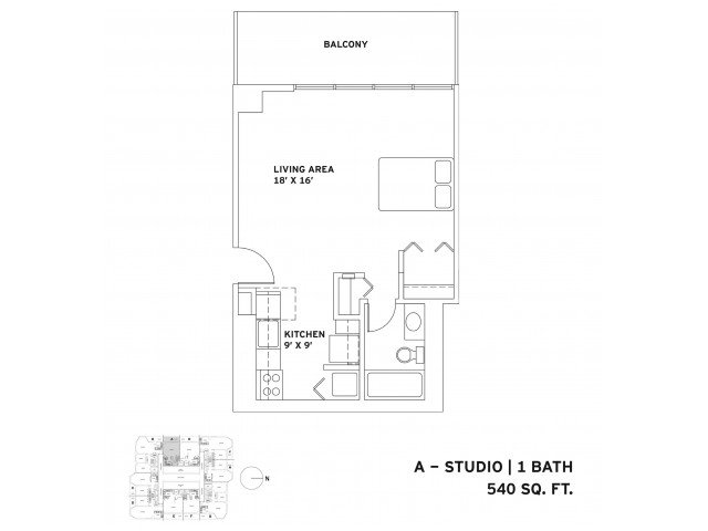 Studio 1 Bathroom Apartment for rent at One East Delaware in Chicago, IL