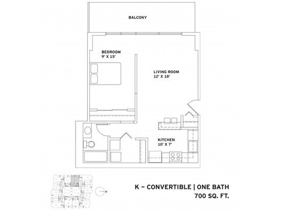 1 Bedroom 1 Bathroom Apartment for rent at One East Delaware in Chicago, IL
