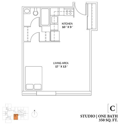 Studio 1 Bathroom Apartment for rent at The Bryn in Chicago, IL