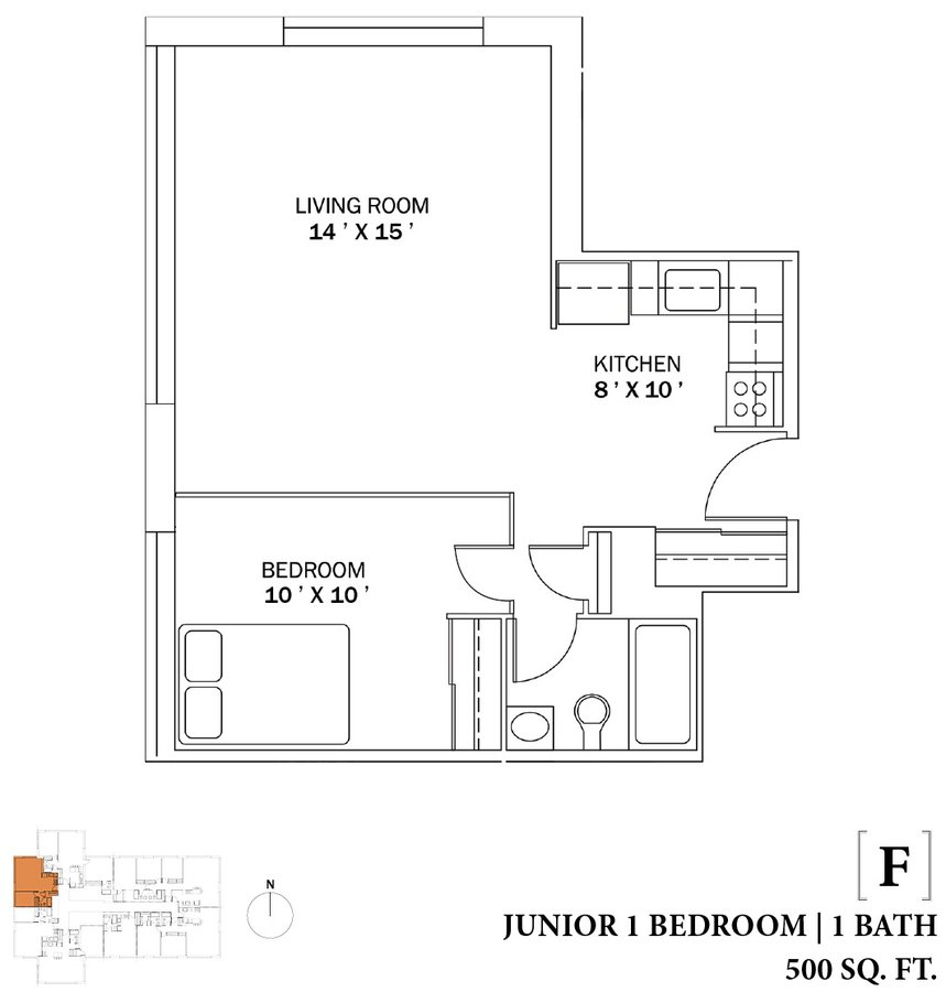 1 Bedroom 1 Bathroom Apartment for rent at The Bryn in Chicago, IL