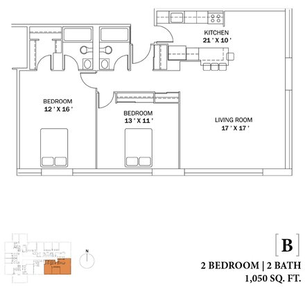 2 Bedrooms 2 Bathrooms Apartment for rent at The Bryn in Chicago, IL