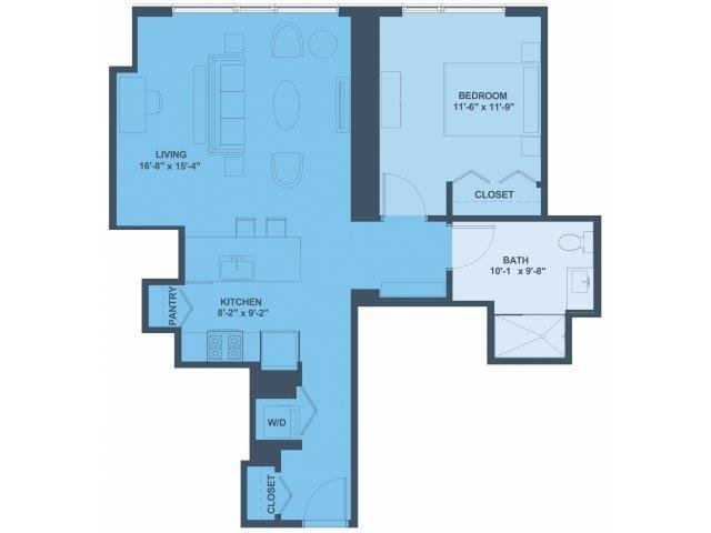 1 Bedroom 1 Bathroom Apartment for rent at 1001 South State in Chicago, IL