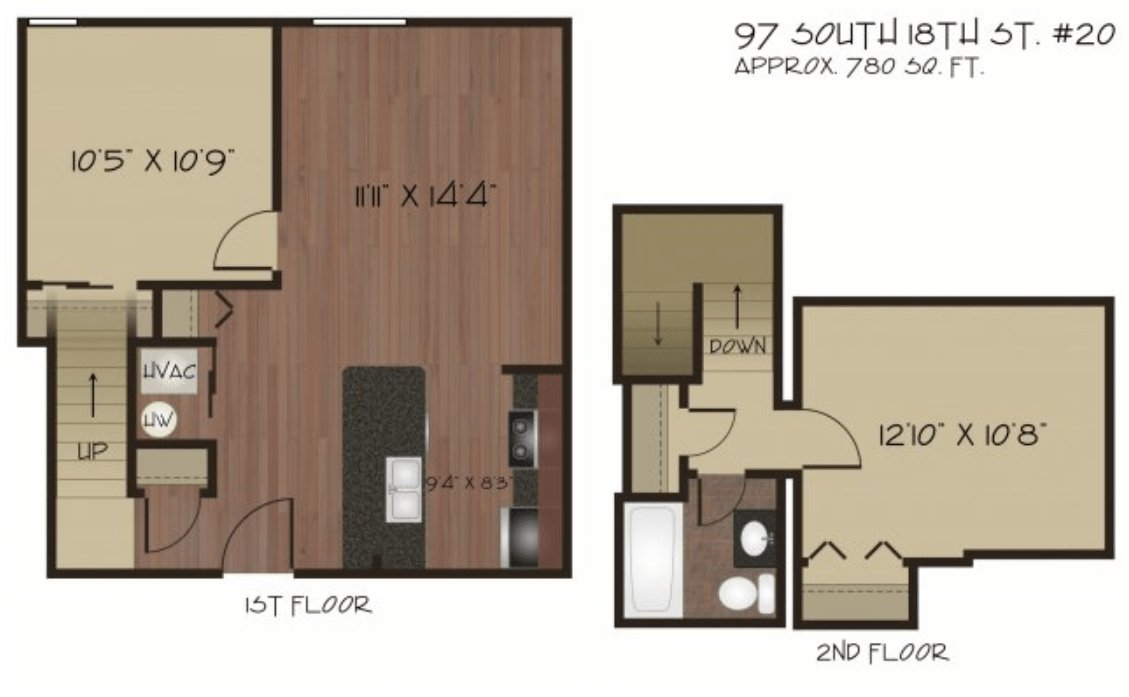 2 Bedrooms 1 Bathroom Apartment for rent at Live South Side in Pittsburgh, PA