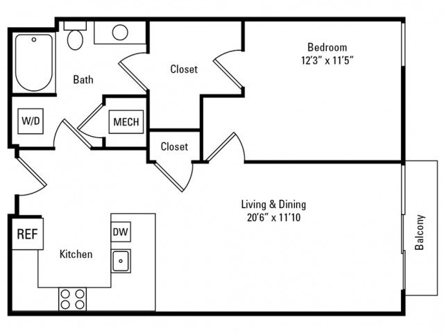 1 Bedroom 1 Bathroom Apartment for rent at Eastside Bond in Pittsburgh, PA