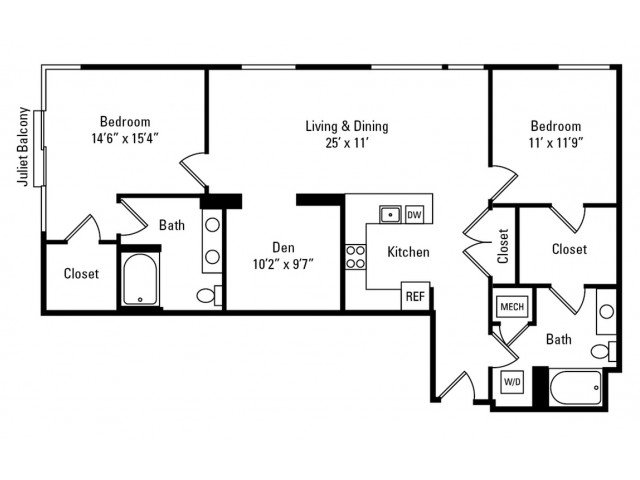 2 Bedrooms 2 Bathrooms Apartment for rent at Eastside Bond in Pittsburgh, PA