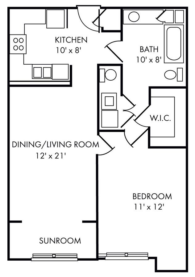 1 Bedroom 1 Bathroom Apartment for rent at Riverland Woods in Charleston, SC