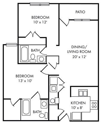 2 Bedrooms 2 Bathrooms Apartment for rent at Riverland Woods in Charleston, SC